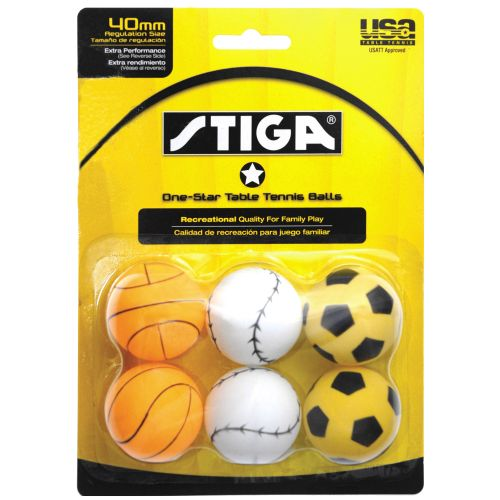 Stiga® 1-Star Sport Table Tennis Balls 6-Pack - view number 1