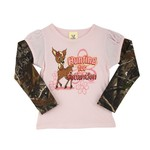 Buck Wear Infant Girls' 2-Fer Princess Long Sleeve Camo Romper
