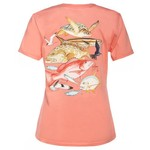 Guy Harvey Women's Gulf Life Red Snapper T-shirt