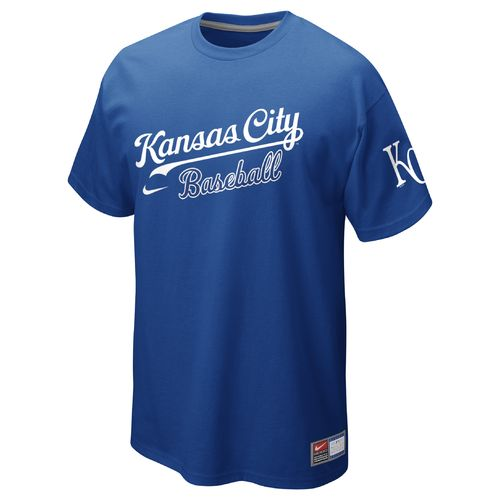 Nike Men's Kansas City Royals Away Practice Short Sleeve T-shirt