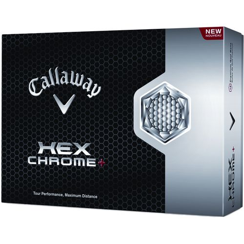 Image for Callaway HEX Chrome™+ Golf Balls 12-Pack from Academy