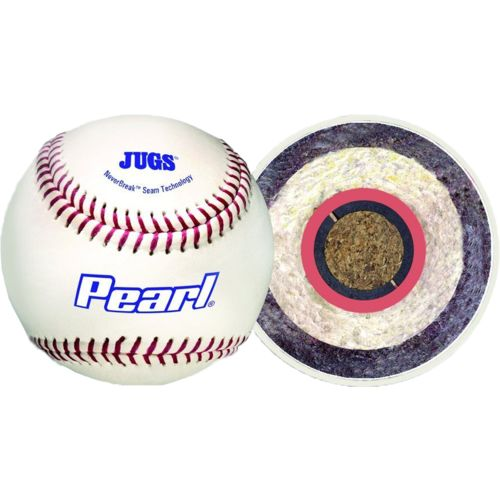 JUGS Pearl® 9' Genuine Leather Baseballs 12-Pack