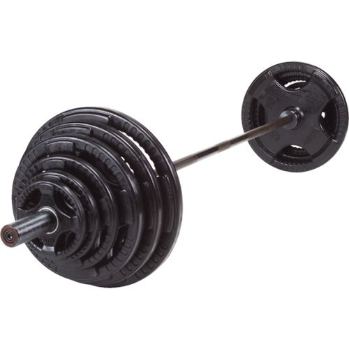 Body-Solid 400 lb. Rubber Grip Olympic Plate Set