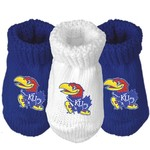 Atlanta Hosiery Company Infants' University of Kansas Booties 3-Pack