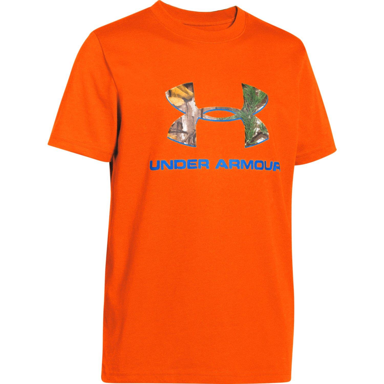 Under Armour Boys 39 Camo Logo T Shirt Academy