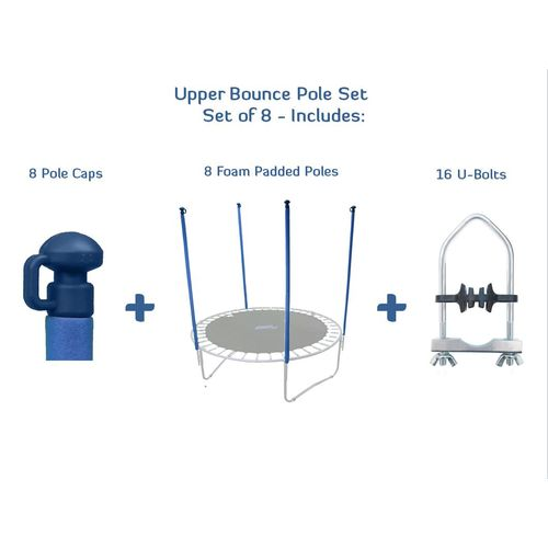 Display product reviews for Upper Bounce® Replacement Trampoline Enclosure Poles and Hardware Set