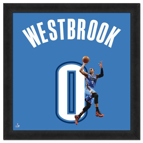 "Photo File Oklahoma City Thunder Russell Westbrook #0 UniFrame 20"" x 20"" Framed Photo"