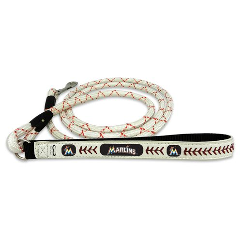 GameWear Miami Marlins Medium Leather Baseball Leash