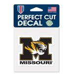 WinCraft University of Missouri Perfect Cut Decal