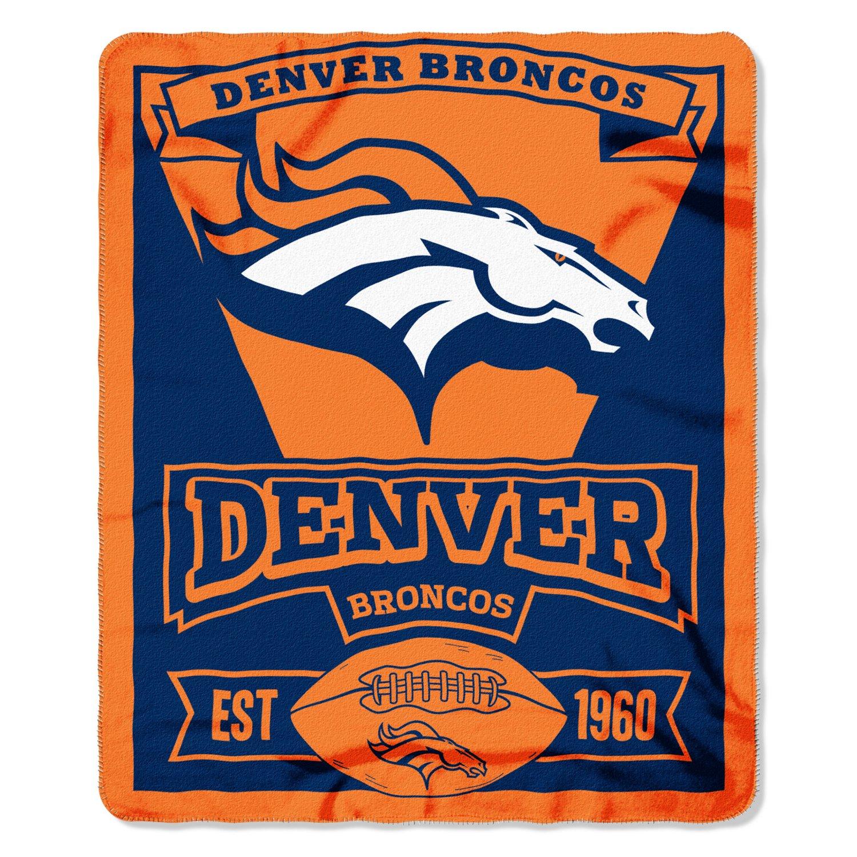 The Northwest Company Denver Broncos Marquee Fleece Throw