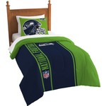 The Northwest Company Seattle Seahawks Twin Comforter and Sham Set