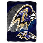 The Northwest Company Baltimore Ravens Bevel Micro Raschel Throw