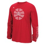 adidas Men's Houston Rockets Tip Off Cager Long Sleeve T-shirt
