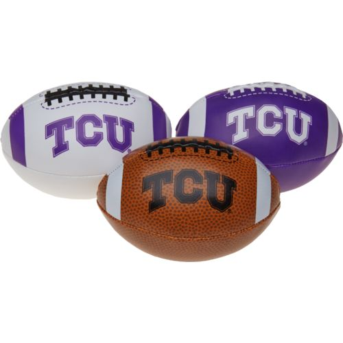 Rawlings® Boys' Texas Christian University 3rd Down Softee 3-Ball Football Set