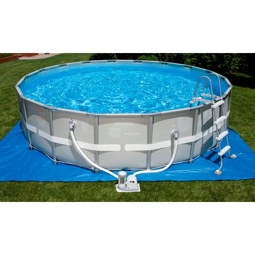 Intex 18 39 X 48 Ultra Frame Pool Set With 1 500 Gal Filter Pump Academy