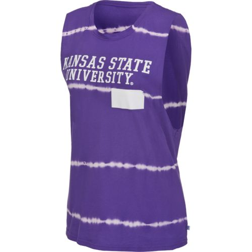Venley Women's Kansas State University Bamboo Dyed Muscle T-shirt