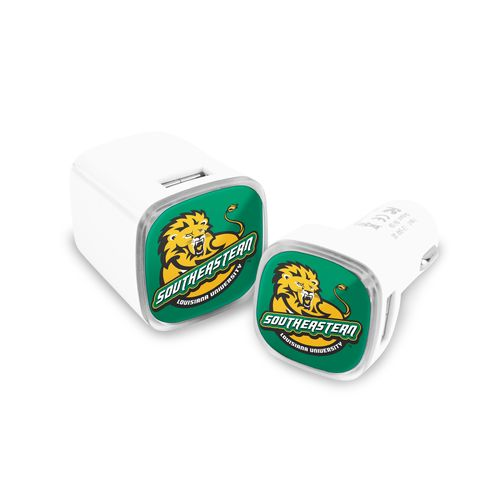 Mizco Southeastern Louisiana University USB Chargers 2-Pack