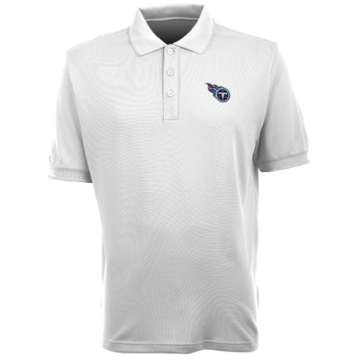 Antigua Men's Tennessee Titans Elite Short Sleeve Polo Shirt