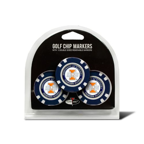 Team Golf University of Illinois Poker Chip and Golf Ball Marker Set