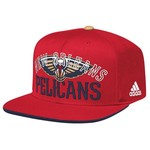 adidas™ Men's New Orleans Pelicans Team Nation Flat Brim Snapback Ball Cap
