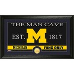 The Highland Mint University of Michigan Man Cave Bronze Coin Panoramic Photo Mint