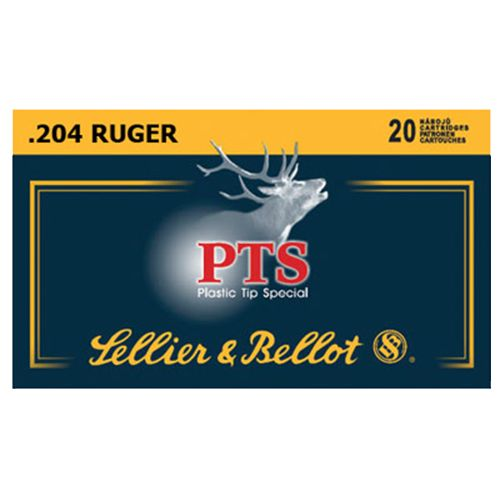 Sellier & Bellot .204 Ruger 32-Grain PTS Centerfire Rifle Ammunition