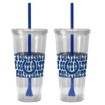 Boelter Brands Indianapolis Colts Bold Neo Sleeve 22 oz. Straw Tumblers 2-Pack - view number 1