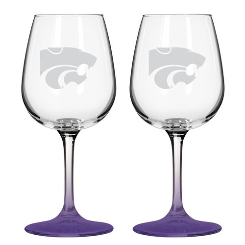 Boelter Brands Kansas State University 12 oz. Wine Glasses 2-Pack