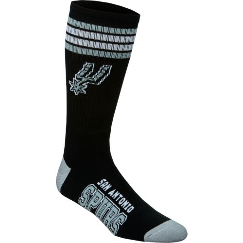 For Bare Feet Adults' San Antonio Spurs 4-Stripe Deuce Socks