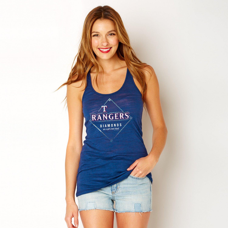 Soft As A Grape Women's Texas Rangers Diamonds