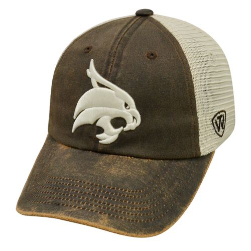Top of the World Adults' Texas State University ScatMesh Cap