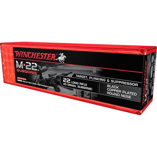 Display product reviews for Winchester M-22 Subsonic .22 LR 45-Grain Rimfire Ammunition