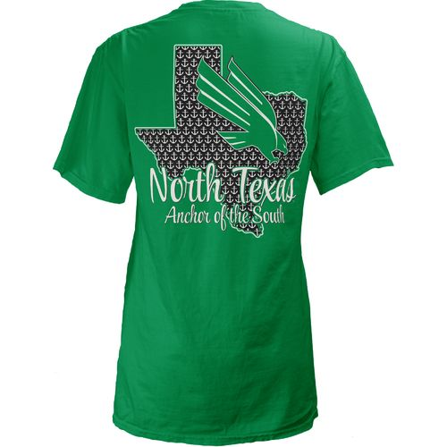 Three Squared Juniors' University of North Texas State Monogram Anchor T-shirt
