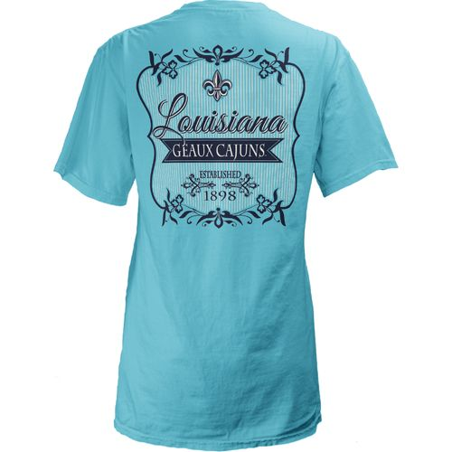 Three Squared Juniors' University of Louisiana at Lafayette Flora T-shirt