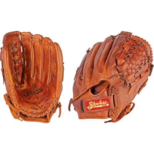 "Shoeless Joe® Men's Basket Weave Pocket 14"" Utility Softball Glove"