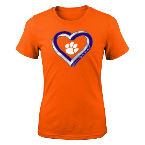 Gen2 Girls' Clemson University Infinite Heart Fashion Fit T-shirt