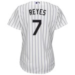 Majestic Women's Colorado Rockies José Reyes #7 Cool Base Replica Home Jersey