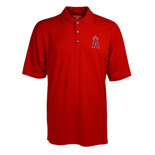 Antigua Men's Los Angeles Angels of Anaheim Phoenix Pointelle Polo Shirt - view number 1