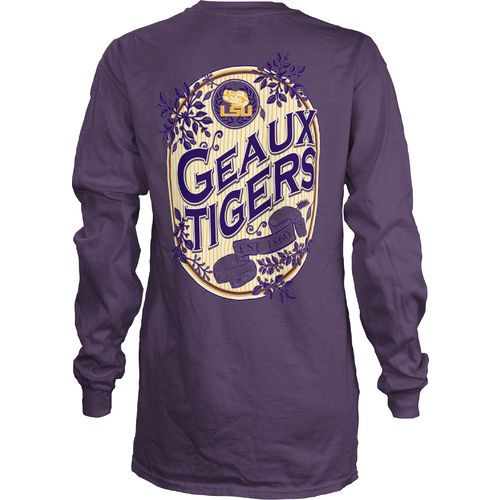 Three Squared Juniors' Louisiana State University Maya Long Sleeve T-shirt