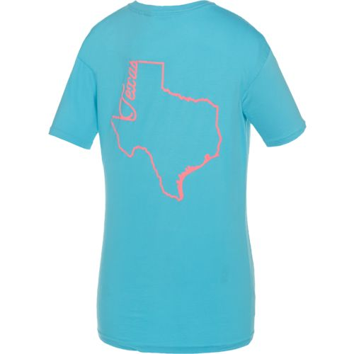 Royce Juniors' State Pride Texas Outline Script T-shirt