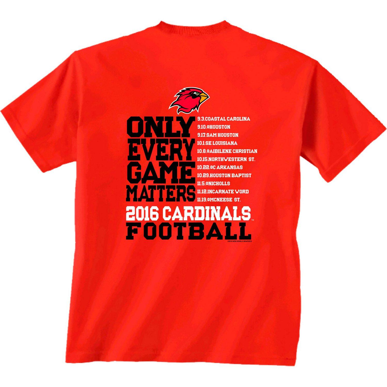 New World Graphics Men's Lamar University Schedule T-shirt