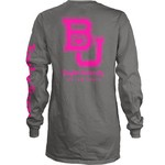 Three Squared Juniors' Baylor University Cynthia Pocketed Long Sleeve T-shirt