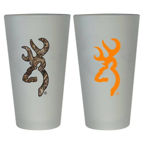 Browning™ Buckmark 16 oz. Frosted Pint Glasses 2-Pack