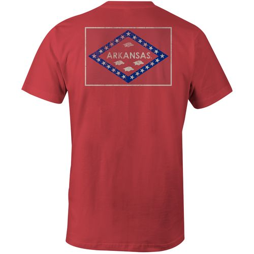 Image One Men's University of Arkansas State Flag Comfort Color T-shirt