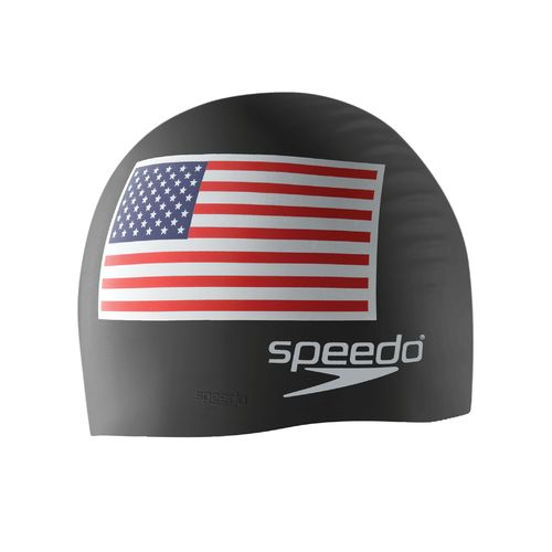 Speedo Adults' USA Flag Silicone Swim Cap - view number 1