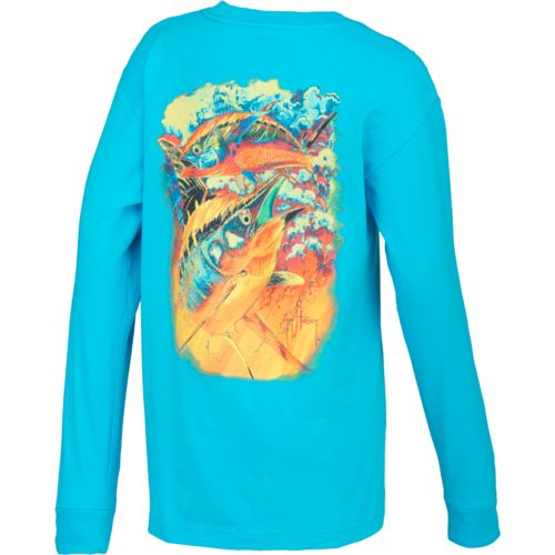 Guy Harvey Boys' Hot Pursuit Long Sleeve T-shirt