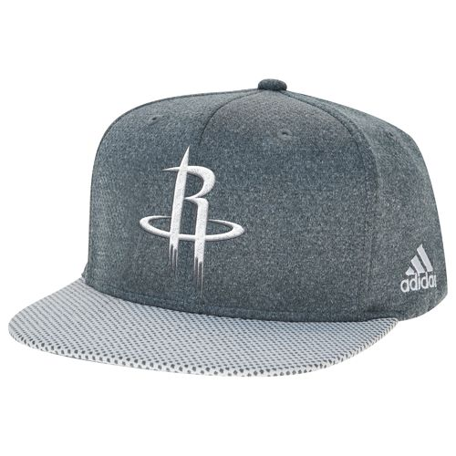 adidas Men's Houston Rockets Logo Flat Brim Snapback Cap