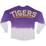 NCAA Women's Louisiana State University Ombré Tribal Football T-shirt
