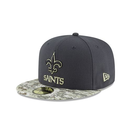 New Era Men's New Orleans Saints Salute to Service 59FIFTY Cap