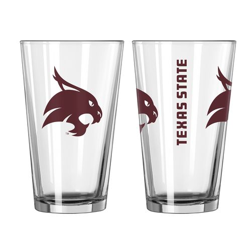 Boelter Brands Texas State University Game Day 16 oz. Pint Glasses 2-Pack